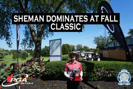 Sheman Dominates at Fall Classic, Claims 2020 Title at St. Thomas Golf & CC