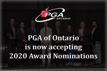 PGA of Ontario is now accepting 2020 Award Nominations