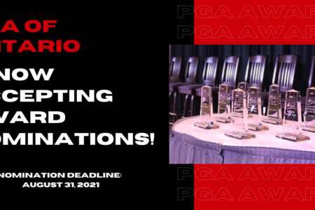 PGA of Ontario is now accepting 2021 Award Nominations