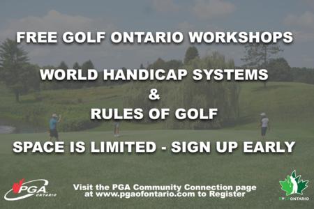 Free Golf Ontario Webinars For PGA Members