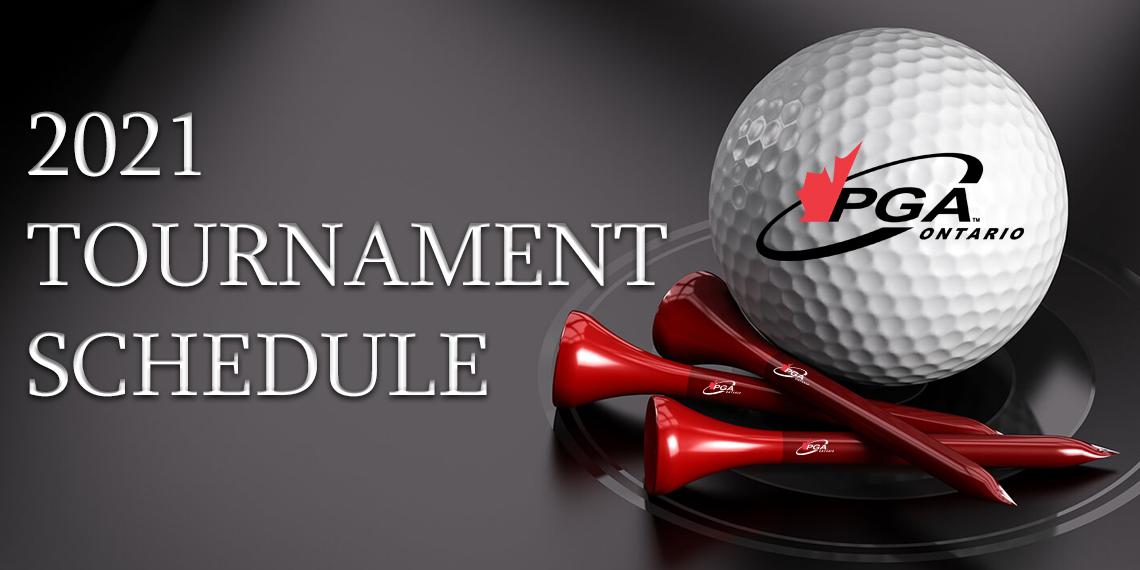 2021 PGA of Ontario Tournament Schedule