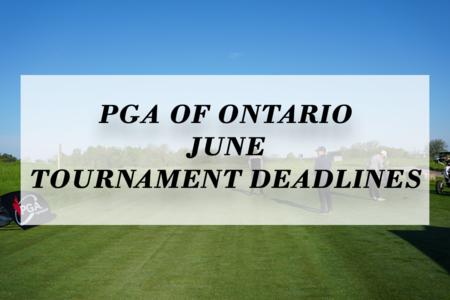 Upcoming June Tournament Deadlines