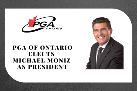 PGA of Ontario elects Michael Moniz as President