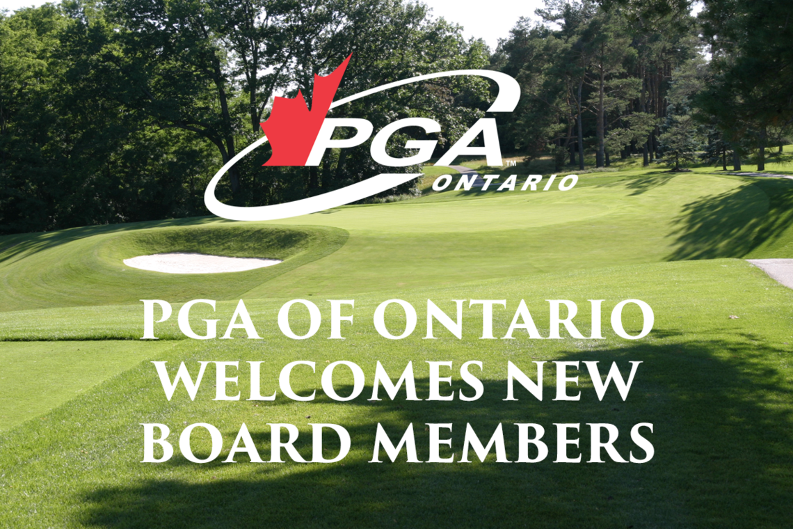 PGA of Ontario Welcomes New Board Members