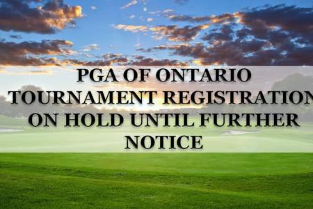 Tournament Registration on HOLD