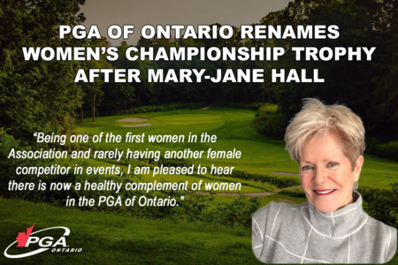 Women's Championship Trophy To Be Renamed After Local Golf Legend