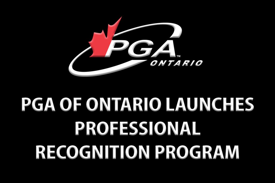 PGA of Ontario Launches Professional Recognition Program