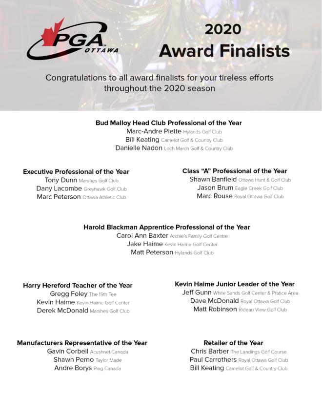 2020 Award Finalists