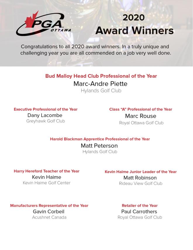 2020 Award Winners