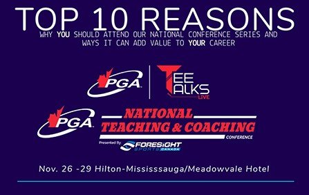 Top 10 Reasons to Attend PGA of Canada National Conference Series
