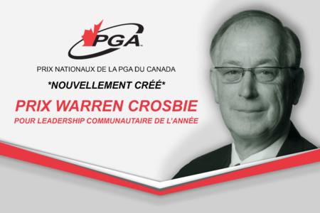Warren Crosbie pour leadership communataire de l'année