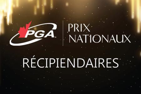 La PGA du Canada est fière d'annoncer ses lauréats des prix nationaux 2020