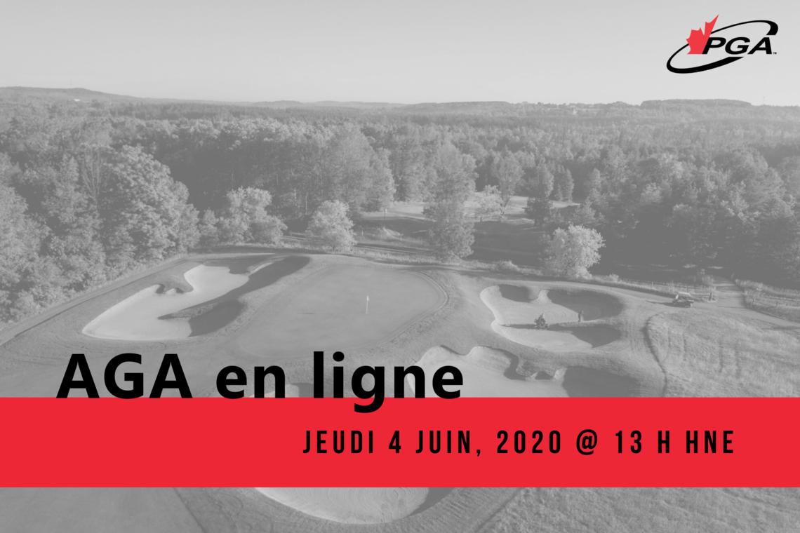 Inscrivez-vous maintenant à l'AGA en ligne de la PGA du Canada
