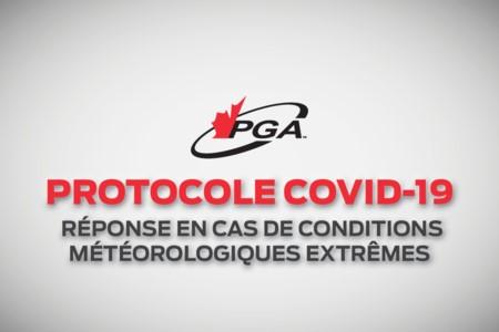 Protocole COVID-19 - Réponse aux conditions météorologiques extrêmes
