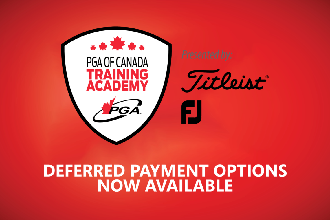 PGA of Canada Launches Deferred Education Payment Plan