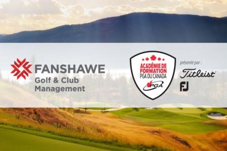 Le Fanshawe College devient un programme reconnu par l'Académie de formation de la PGA du Canada présentée par Titleist et Footjoy.