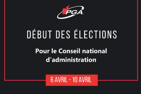 Élections en cours pour le Conseil d'administration national