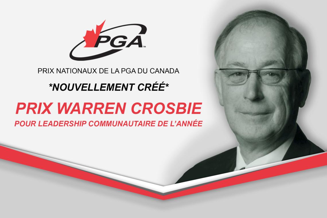 La PGA du Canada lance un nouveau Prix national pour le leadership communautaire