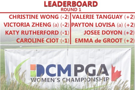 Christine Wong and amateur Victoria Zheng co-lead DCM PGA Women's Championship of Canada after 2-under 70s