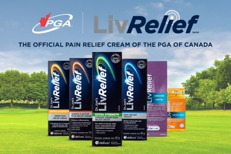 LivRelief™ Named Official Pain Relief Cream of the PGA of Canada