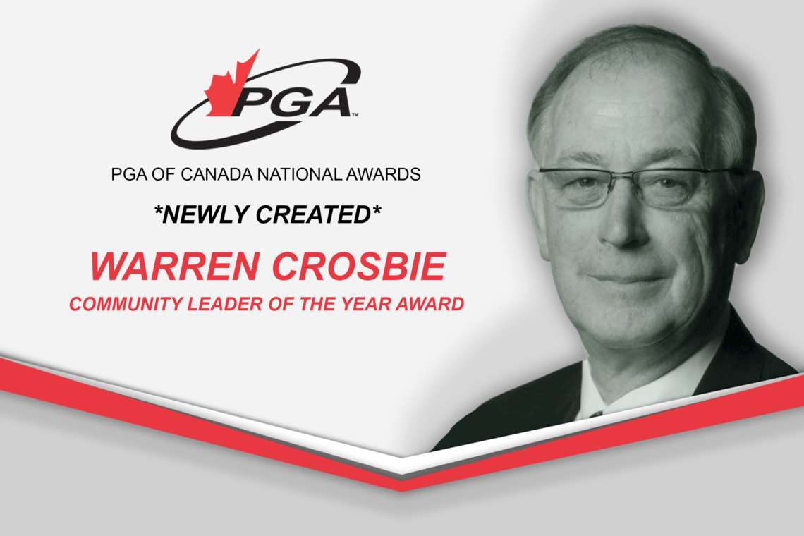 PGA of Canada Launches New National Award For Community Leadership