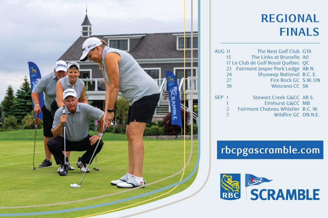 RBC PGA Scramble Announces 2021 Regional Final Host Locations and Program Updates and Highlights