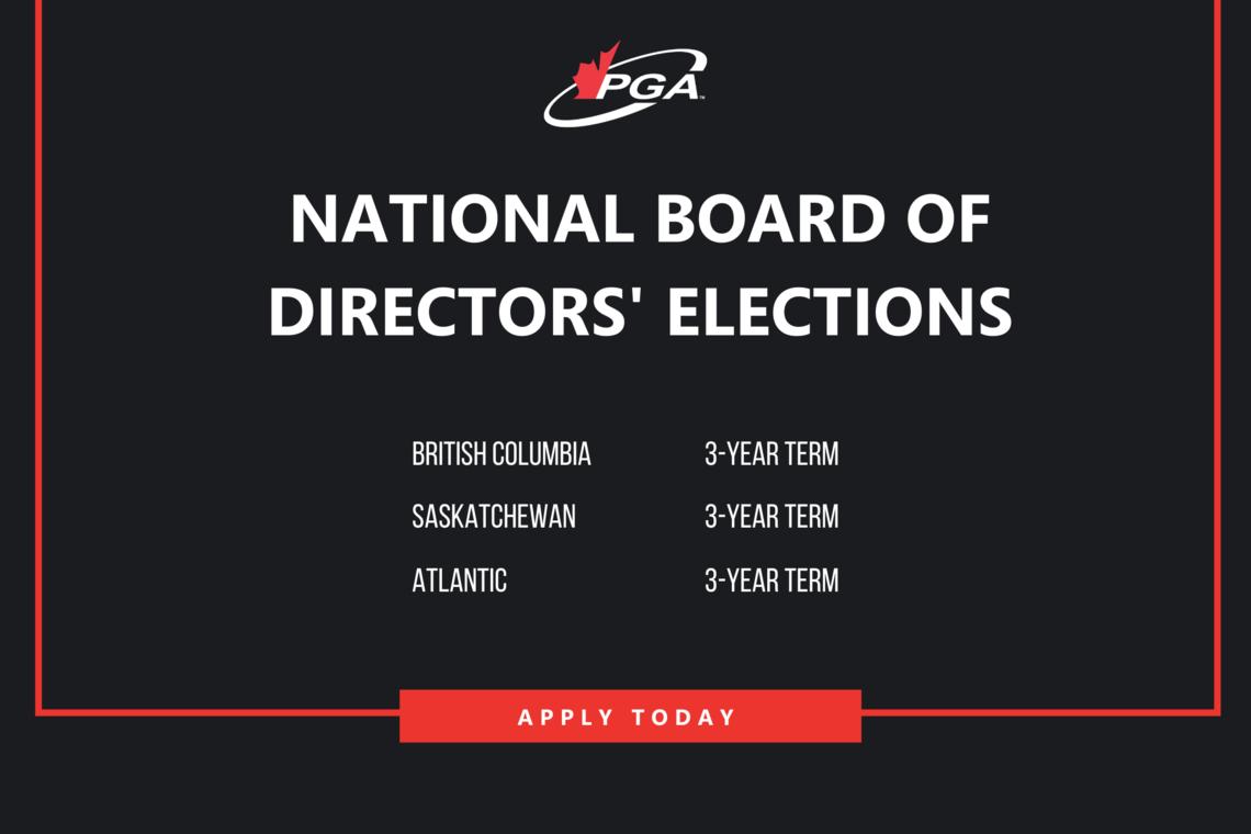 2020 PGA of Canada National Board of Directors' Elections
