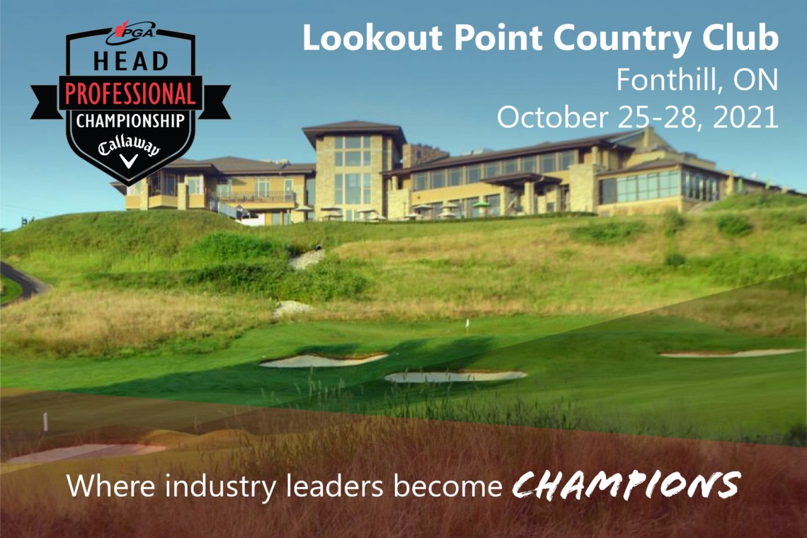PGA Head Professional Championship of Canada presented by Callaway Golf headed to Lookout Point Country Club October 25-28