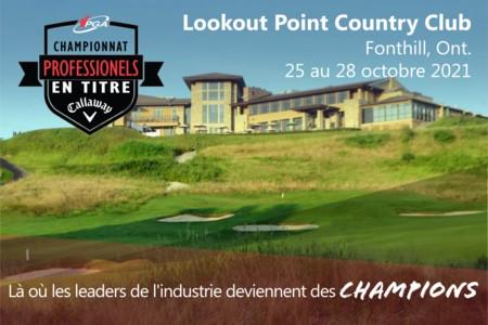 Le championnat des professionnels en titre de la PGA du Canada présenté par Callaway Golf annoncé