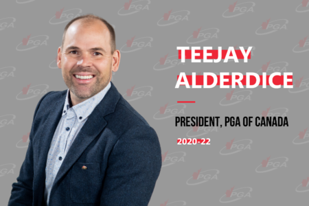 Teejay Alderdice Named 48th President of the PGA of Canada