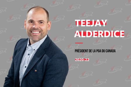 Teejay Alderdice nommé 48e président de la PGA du Canada