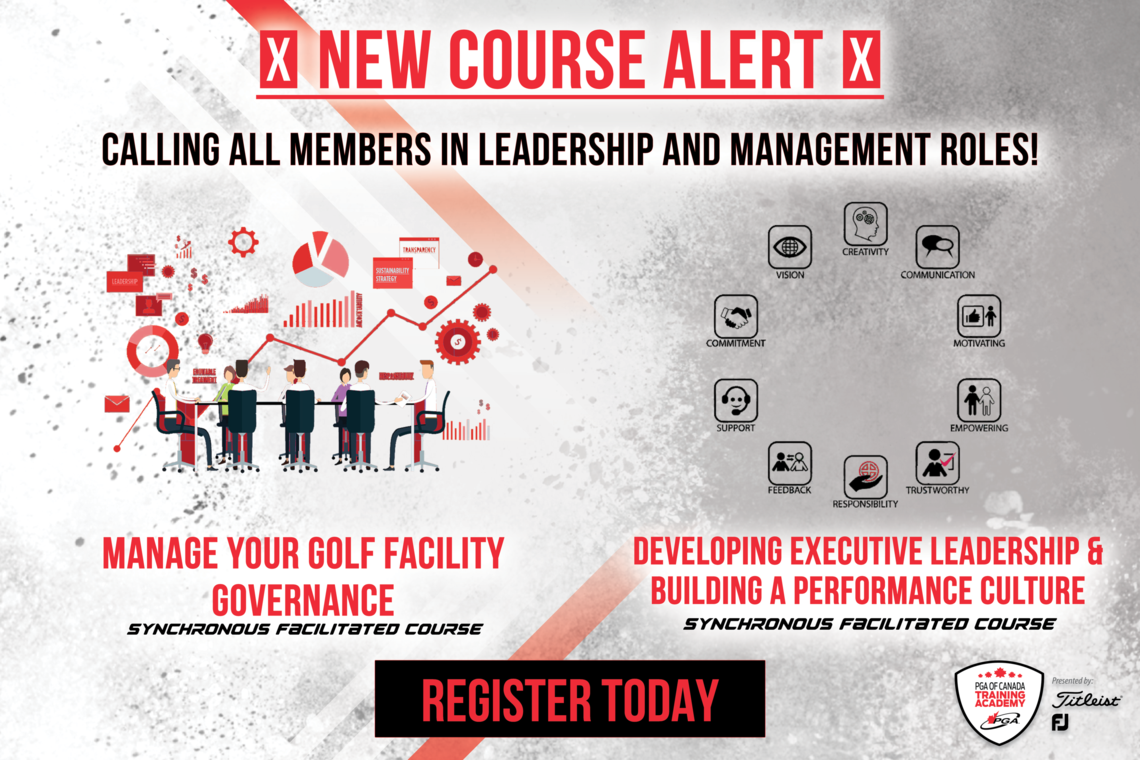 New PGA Training Academy Courses Launched. Register Now.