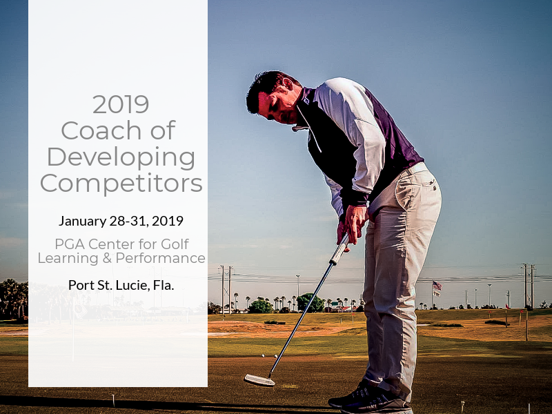 The Coach of Developing Competitors Workshop is Back!