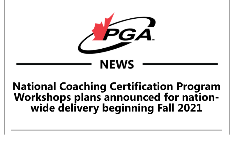 Community Golf Coach workshops are available now!