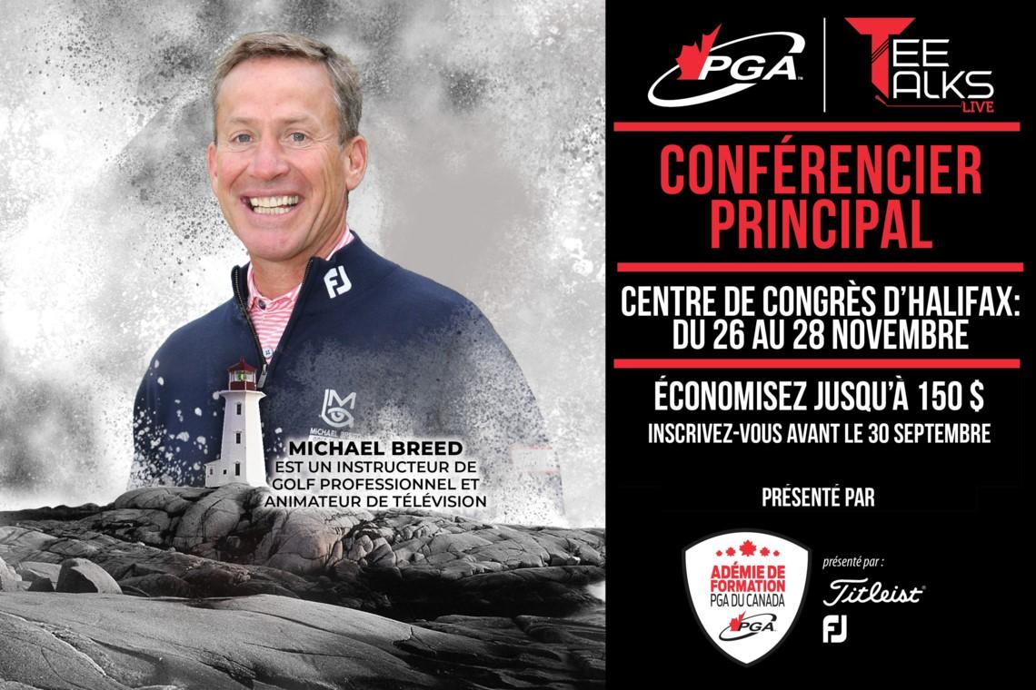 L'un des professeurs de golf les plus sympathiques a été choisi comme conférencier principal pour Tee Talks Live de cette année.