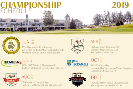 The 2019 PGA of Canada National Championship Schedule