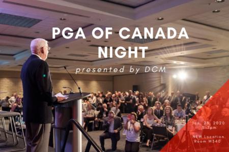 2020 PGA of Canada Night