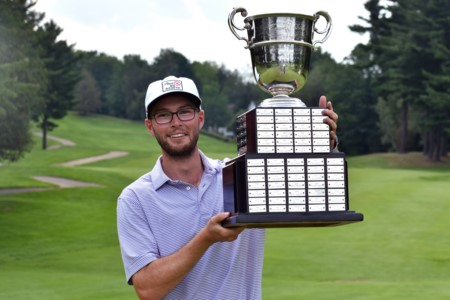 Riley Fleming stamps his name on P.D. Ross Trophy as winner of the 2021 BetRegal PGA Championship of Canada