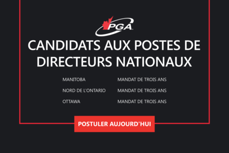 Élections 2021 au Conseil d'administration national de la PGA du Canada