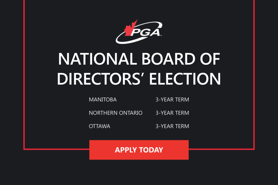 2021 PGA OF CANADA NATIONAL BOARD OF DIRECTORS' ELECTIONS