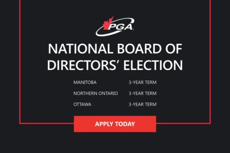 2021 PGA OF CANADA NATIONAL BOARD OF DIRECTORS' ELECTIONS