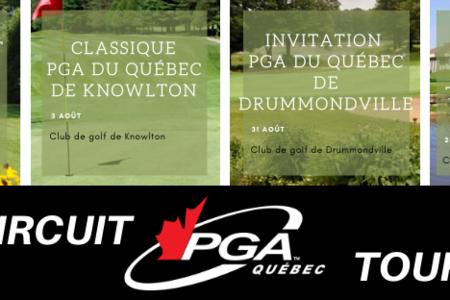 Le Circuit PGA du Québec, des compétitions sous le signe de la prudence sanitaire en 2020