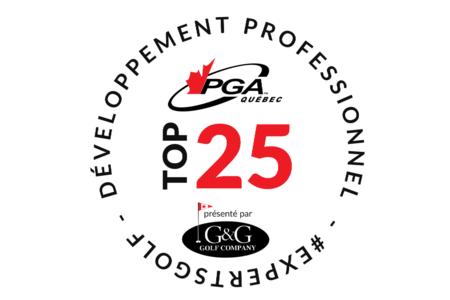 LA PGA DU QUÉBEC S'ASSOCIE AVEC G&G GOLF COMPANY POUR LANCER SON PROGRAMME  TOP 25 PRÉSENTÉ PAR G&G GOLF COMPANY