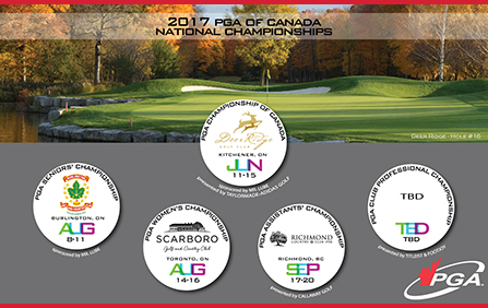 PGA of Canada National Championship Schedule